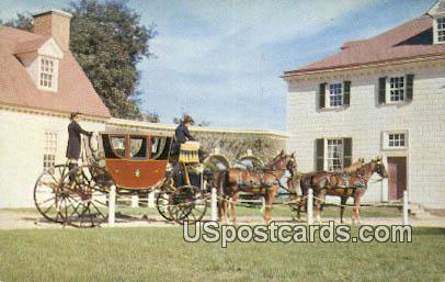 Powel Coach - Mt Vernon, Virginia VA Postcard