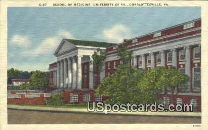 School of Medicine, University of Virginia - Charlottesville Postcard