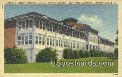 George W Wright Memorial Pavilion - Charlottesville, Virginia VA Postcard