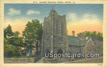 Emanuel Episcopal Church - Bristol, Virginia VA Postcard