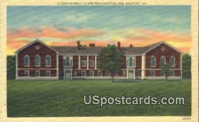 Dining Hall, State Teachers College - Radford, Virginia VA Postcard