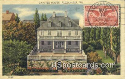Caryle House - Alexandria, Virginia VA Postcard