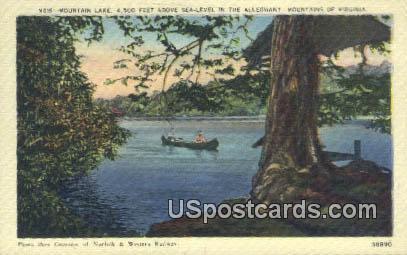 Mountain Lake - Alleghany, Virginia VA Postcard