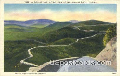 Skyline Drive, VA Postcard       ;         Skyline Drive, Virginia