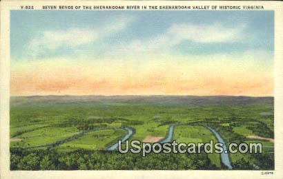 Seven Bends, Shenandoah River - Shenandoah Valley, Virginia VA Postcard