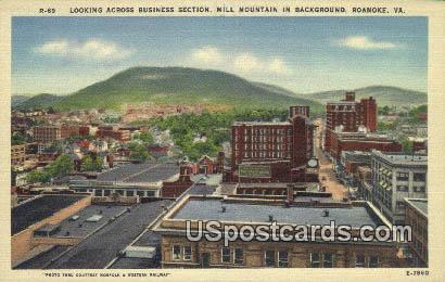 Mill Mountain - Roanoke, Virginia VA Postcard