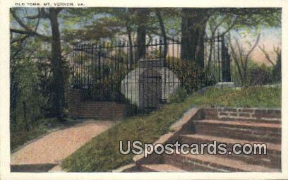 Old Tomb - Mt Vernon, Virginia VA Postcard