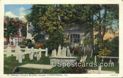 St George's Church - Fredericksburg, Virginia VA Postcard
