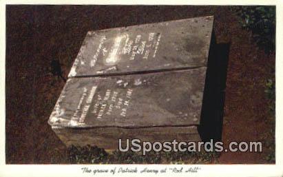 Grave of Patrick Henry - Red Hill, Virginia VA Postcard