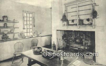 Kitchen, Home of George Washington - Mt Vernon, Virginia VA Postcard