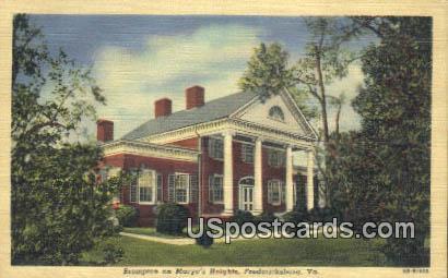 Brompton on Marye's Heights - Fredericksburg, Virginia VA Postcard