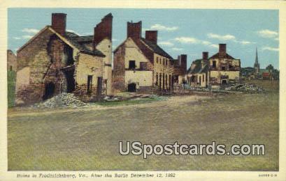 Ruins, Battle December 12, 1862 - Fredericksburg, Virginia VA Postcard