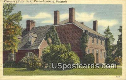 Kenmore 1752 - Fredericksburg, Virginia VA Postcard