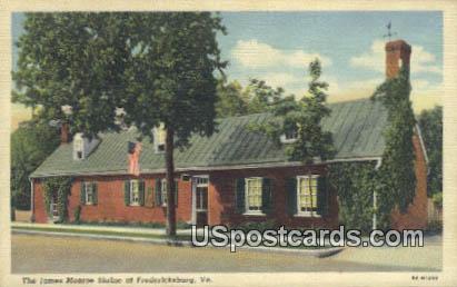 James Monroe Shrine - Fredericksburg, Virginia VA Postcard