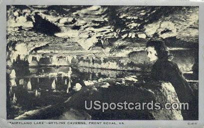 Fairyland Lake - Front Royal, Virginia VA Postcard
