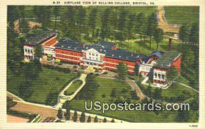 Sullins College - Bristol, Virginia VA Postcard