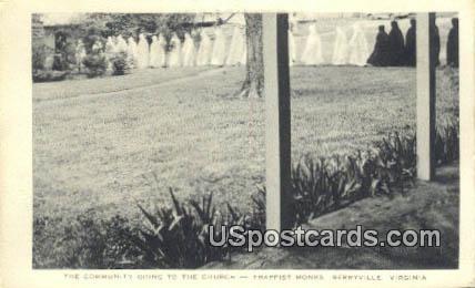 Community  Trappist Monks - Berryville, Virginia VA Postcard