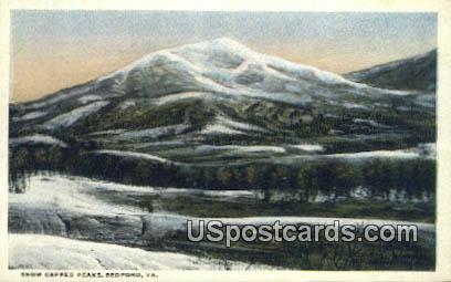 Snow Capped Peaks - Bedford, Virginia VA Postcard