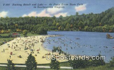 Fairy Stone State Park, Virginia Postcard     ;       Fairy Stone State Park, VA