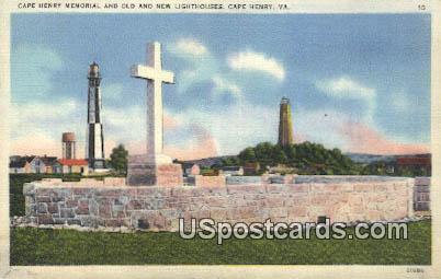 Cape Henry Memorial - Virginia VA Postcard