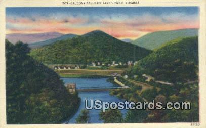 Balcony Falls - James River, Virginia VA Postcard