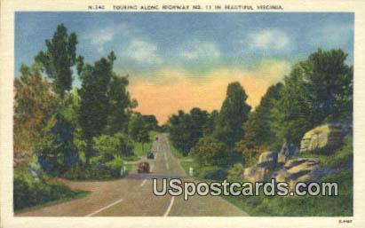 Highway No 11 - Misc, Virginia VA Postcard