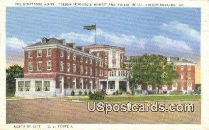 Stratford Hotel - Fredericksburg, Virginia VA Postcard