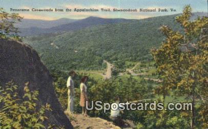 Crossroads, Appalachian Trail - Shenandoah National Park, Virginia VA Postcard