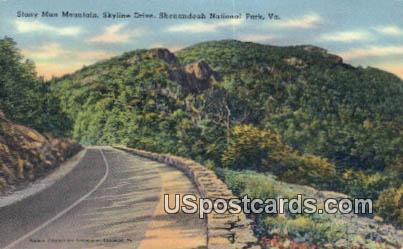 Stony Man Mountain - Shenandoah National Park, Virginia VA Postcard