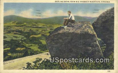 Big Hogback Mountain, VA Postcard       ;         Big Hogback Mountain, Virginia