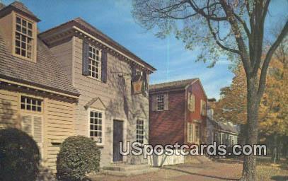 Pasteur Galt Apothecary Shop - Williamsburg, Virginia VA Postcard