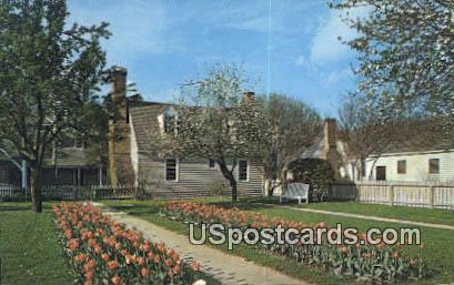 Market Square Garden - Williamsburg, Virginia VA Postcard