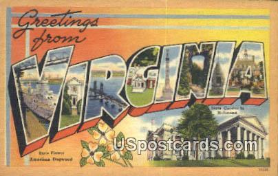 Greetings from, VA Postcard       ;         Greetings from, Virginia