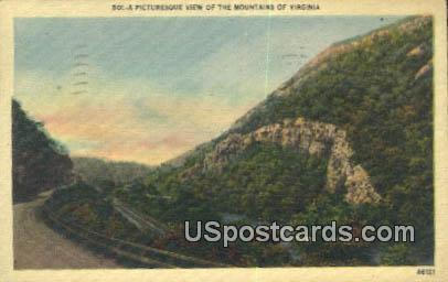 Mountains - Misc, Virginia VA Postcard