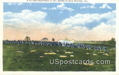 Re-enactment of the Battle of New Market - Virginia VA Postcard
