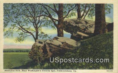Mary Washington's Favorite Spot - Fredericksburg, Virginia VA Postcard