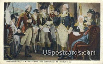 Washington Devlining - Yorktown, Virginia VA Postcard