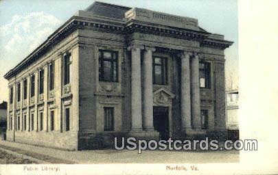 Public Library - Virginia VA Postcard