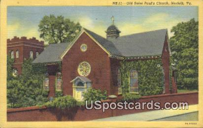 Old Sint Paul's Church - Norfolk, Virginia VA Postcard