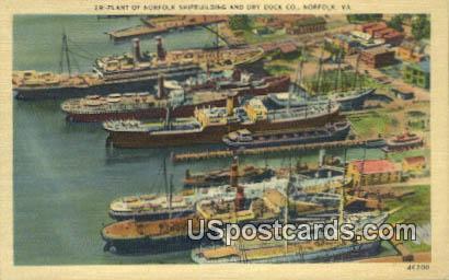 Dry Dock Co - Norfolk, Virginia VA Postcard