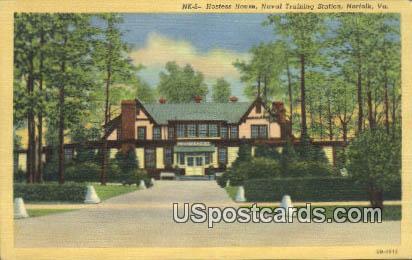 Hostess House, Naval Training Station - Norfolk, Virginia VA Postcard