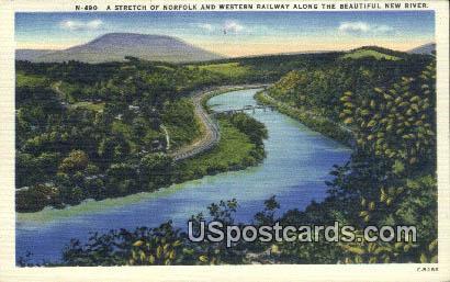 Western Railway, Virginia Postcard     ;       Western Railway, VA