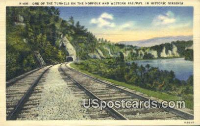 Western Railway, VA Postcard       ;         Western Railway, Virginia