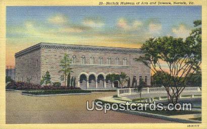 Norfolk Museum of Arts & Science - Virginia VA Postcard