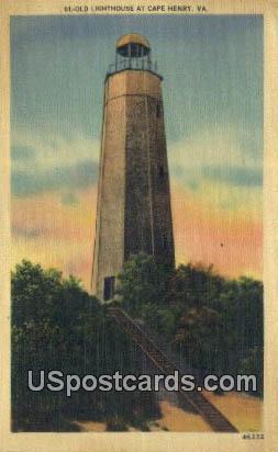 Old Lighthouse - Cape Henry, Virginia VA Postcard