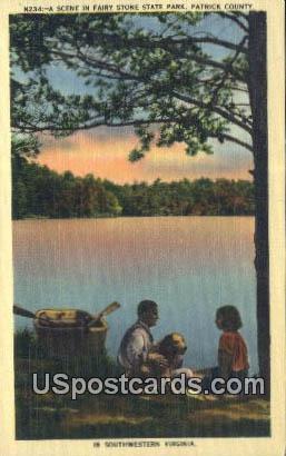 Fairy Stone State Park - Patrick County, Virginia VA Postcard