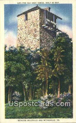 Old Shot Tower - Wytheville, Virginia VA Postcard