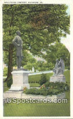 Hollywood Cemetery - Richmond, Virginia VA Postcard