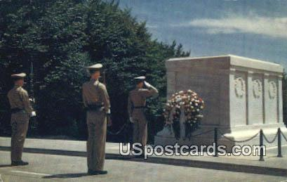 Tomb of the Unknown Soldier - Arlington Cemetery, Virginia VA Postcard