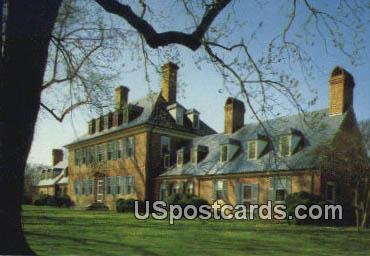 Carter's Grove Plantation - Williamsburg, Virginia VA Postcard